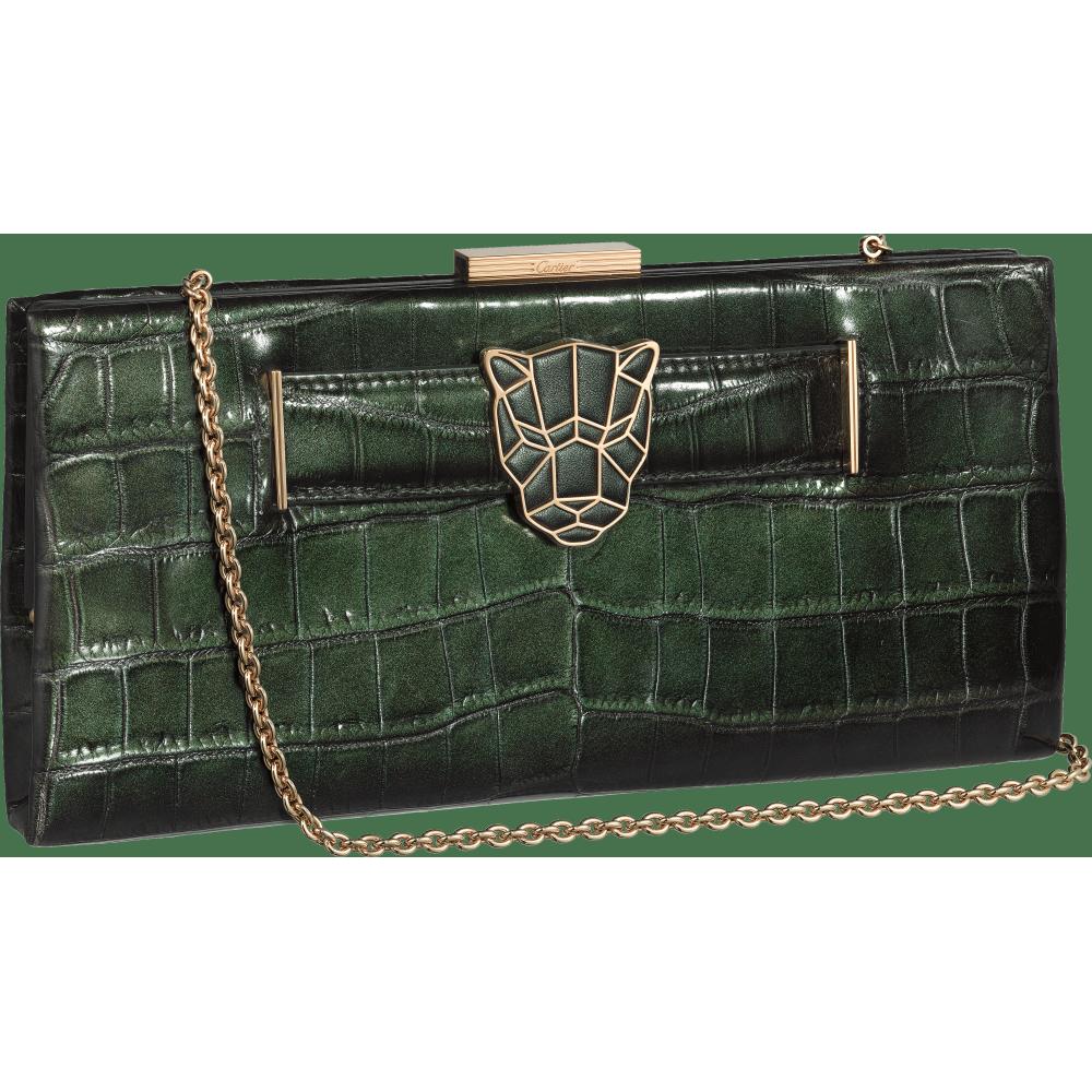 Panthère de Cartier手拿包 绿色 鳄鱼皮