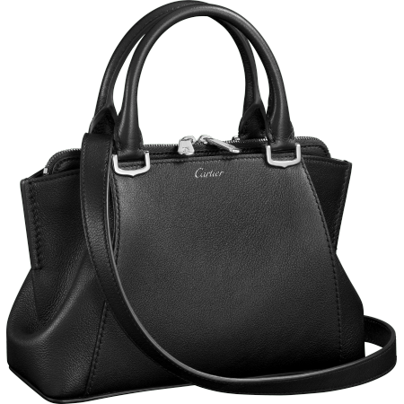 C de Cartier迷你手袋 黑色 Taurillon皮革