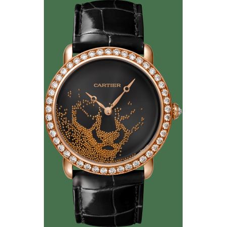 Panthère猎豹装饰珠宝腕表 37毫米 18K玫瑰金 手动上链