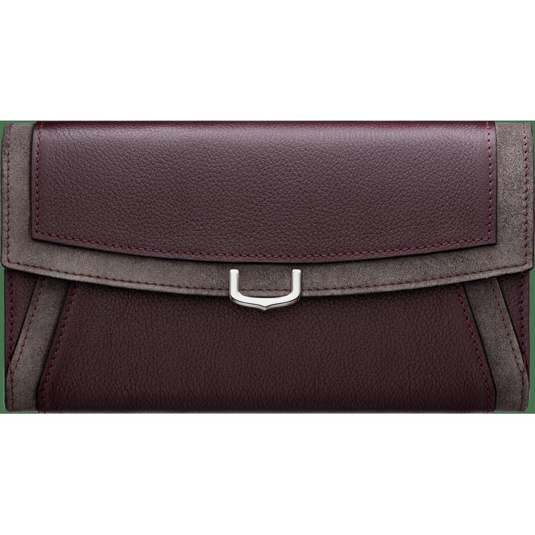 小皮具C de Cartier通用型皮夹 紫色 Taurillon皮革