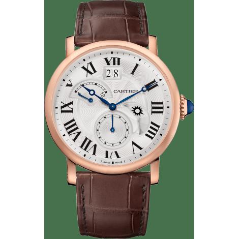 Rotonde de Cartier大日历逆跳指示双时区昼夜显示腕表