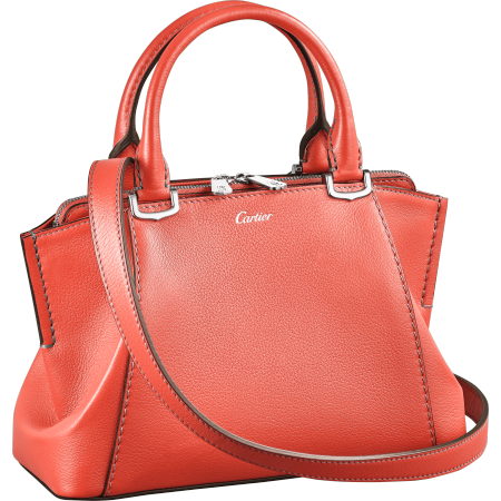 C de Cartier迷你手袋 粉色 Taurillon皮革
