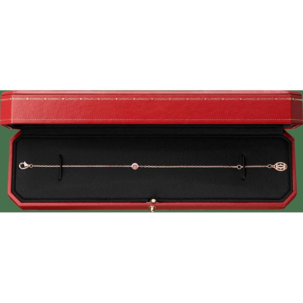 Saphirs Légers de Cartier手链 18K玫瑰金
