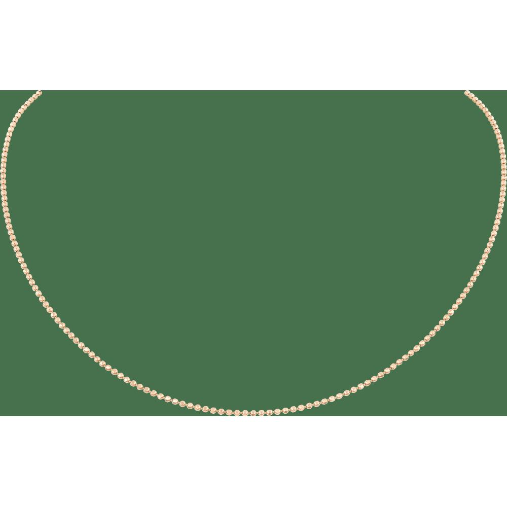 链条项链 18K玫瑰金