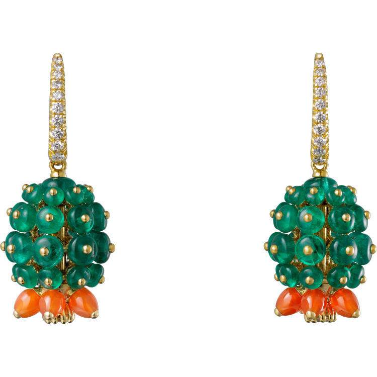 Cactus de Cartier耳环 18K黄金