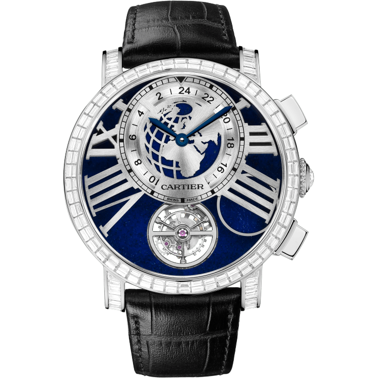 "Rotonde de Cartier""地球与月亮""腕表 47毫米 铂金 手动上链"