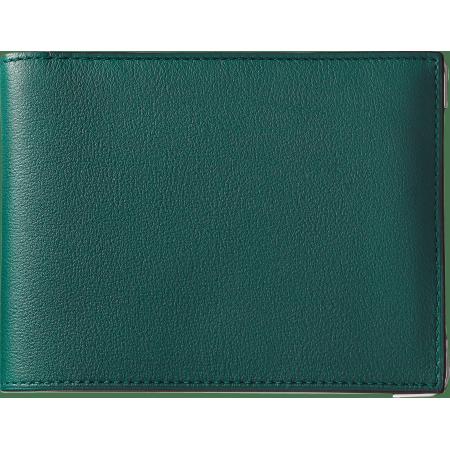 Must de Cartier 6信用卡皮夹 绿色 小牛皮