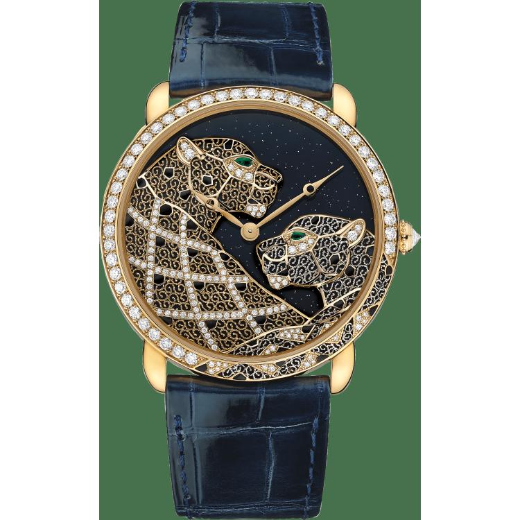 Cartier d'Art系列Ronde Louis Cartier腕表,超大号表款 加大号 18K黄金 手动上链