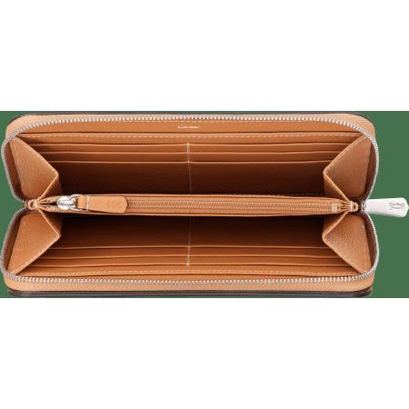 C de Cartier系列小皮具,拉链式皮夹 烟草色 Taurillon皮革
