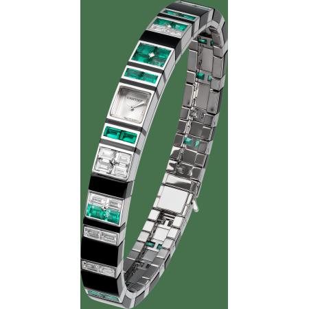高级珠宝腕表 女士 18K镀铑白金 手动上链