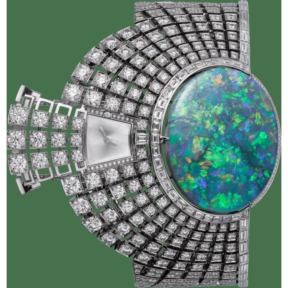 Aten高级珠宝神秘小时腕表  18K白金