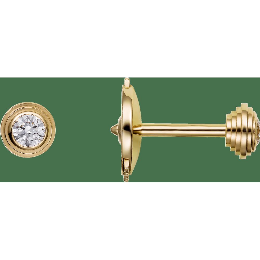 Diamants Légers 耳环,超小号款 18K黄金