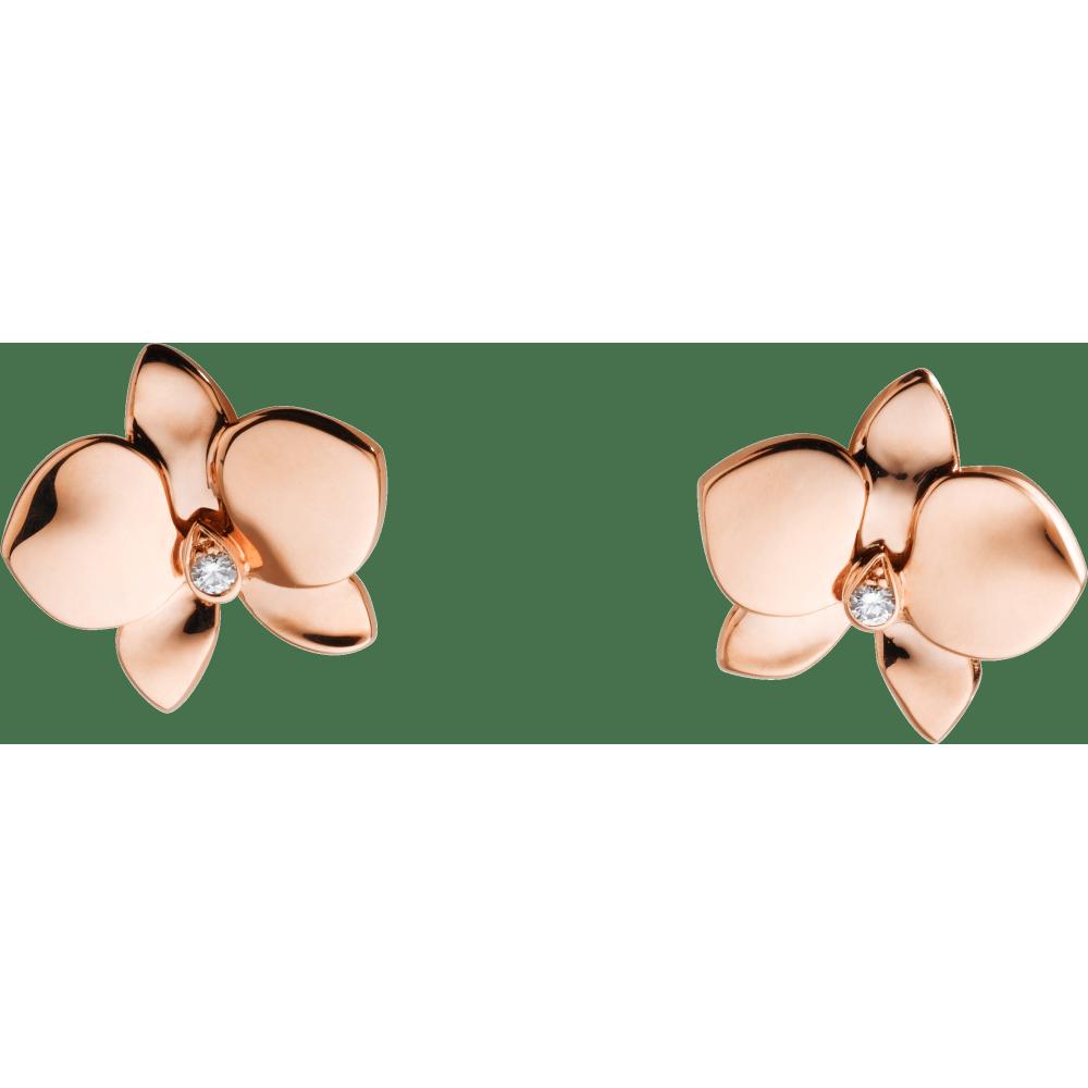 Caresse d'Orchidées par Cartier耳环 18K玫瑰金