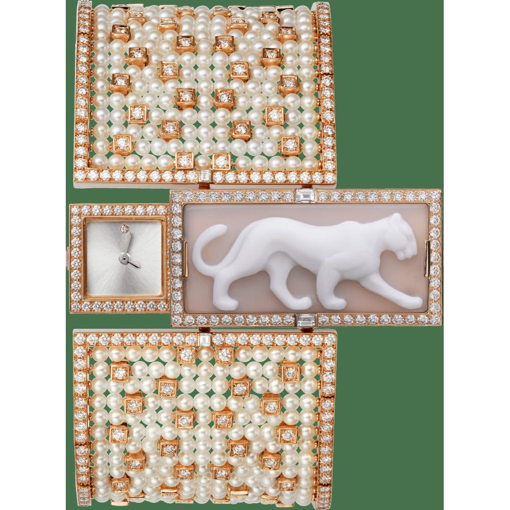 高级珠宝艺术造型腕表  18K玫瑰金