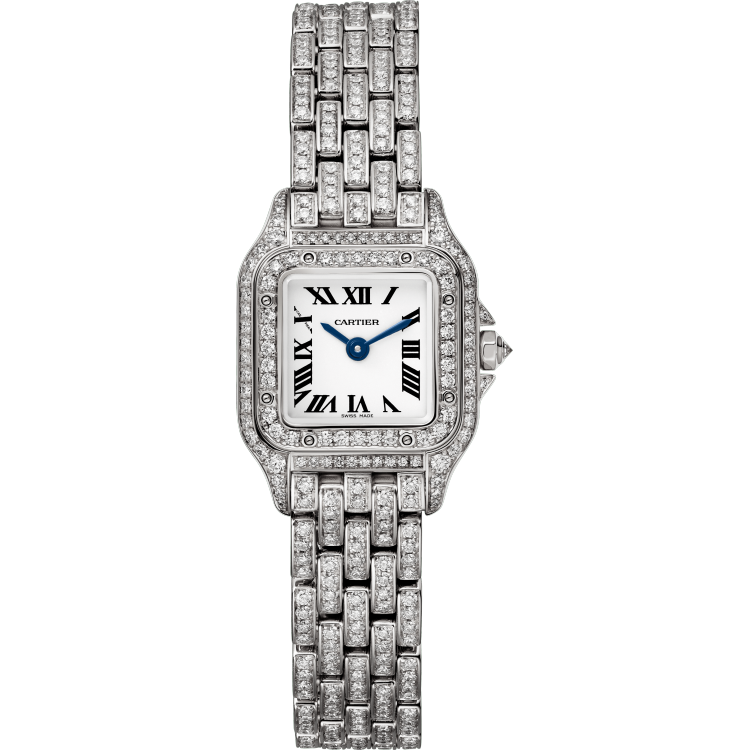 Panthère de Cartier腕表 迷你 18K镀铑白金 石英