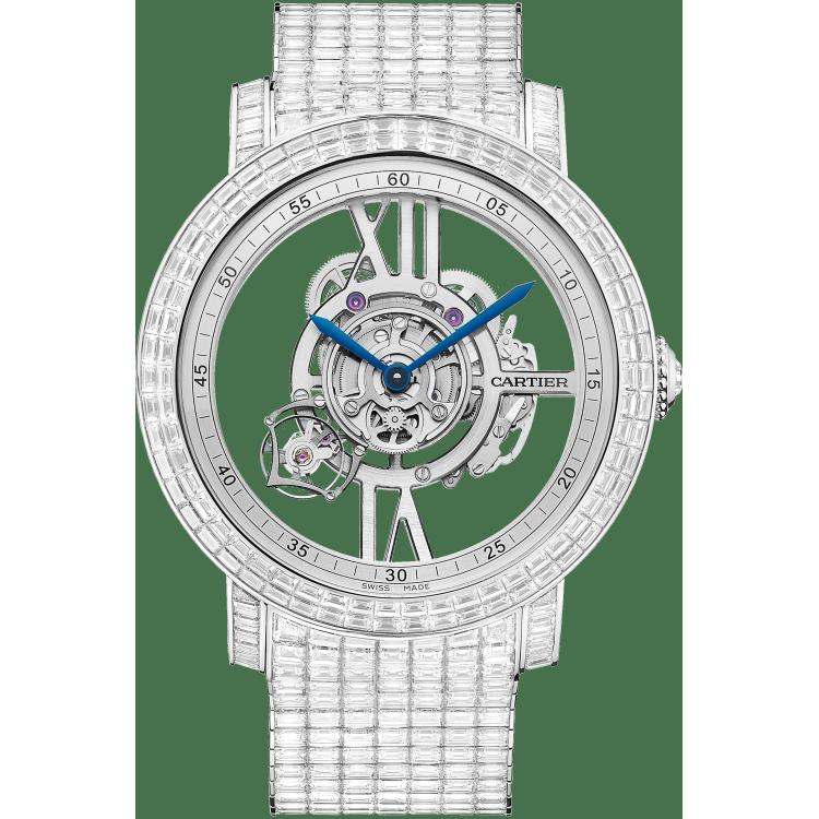Rotonde de Cartier Astrotourbillon天体运转式陀飞轮镂空腕表 48毫米 铂金 手动上链
