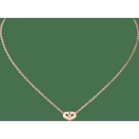 心形项链 18K玫瑰金