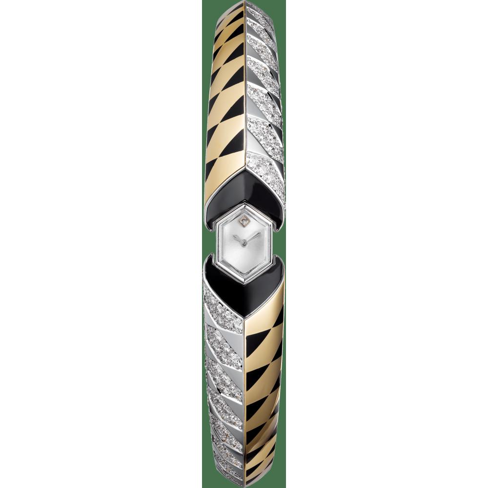 高级珠宝腕表  18K白金,18K玫瑰金