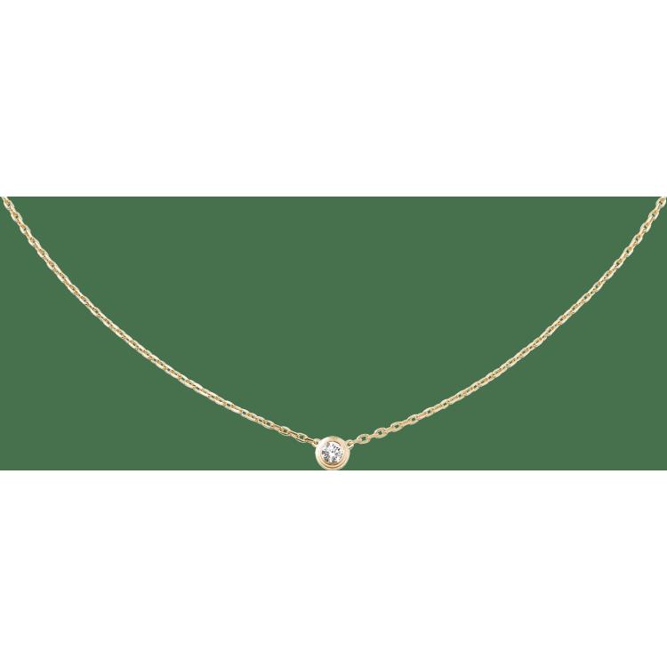 Diamants Légers 项链,大号款 18K黄金