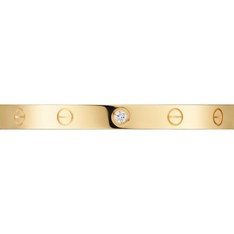 LOVE手镯,镶嵌1颗钻石 18K黄金