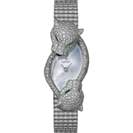 动物造型腕表 中号 18K镀铑白金 石英