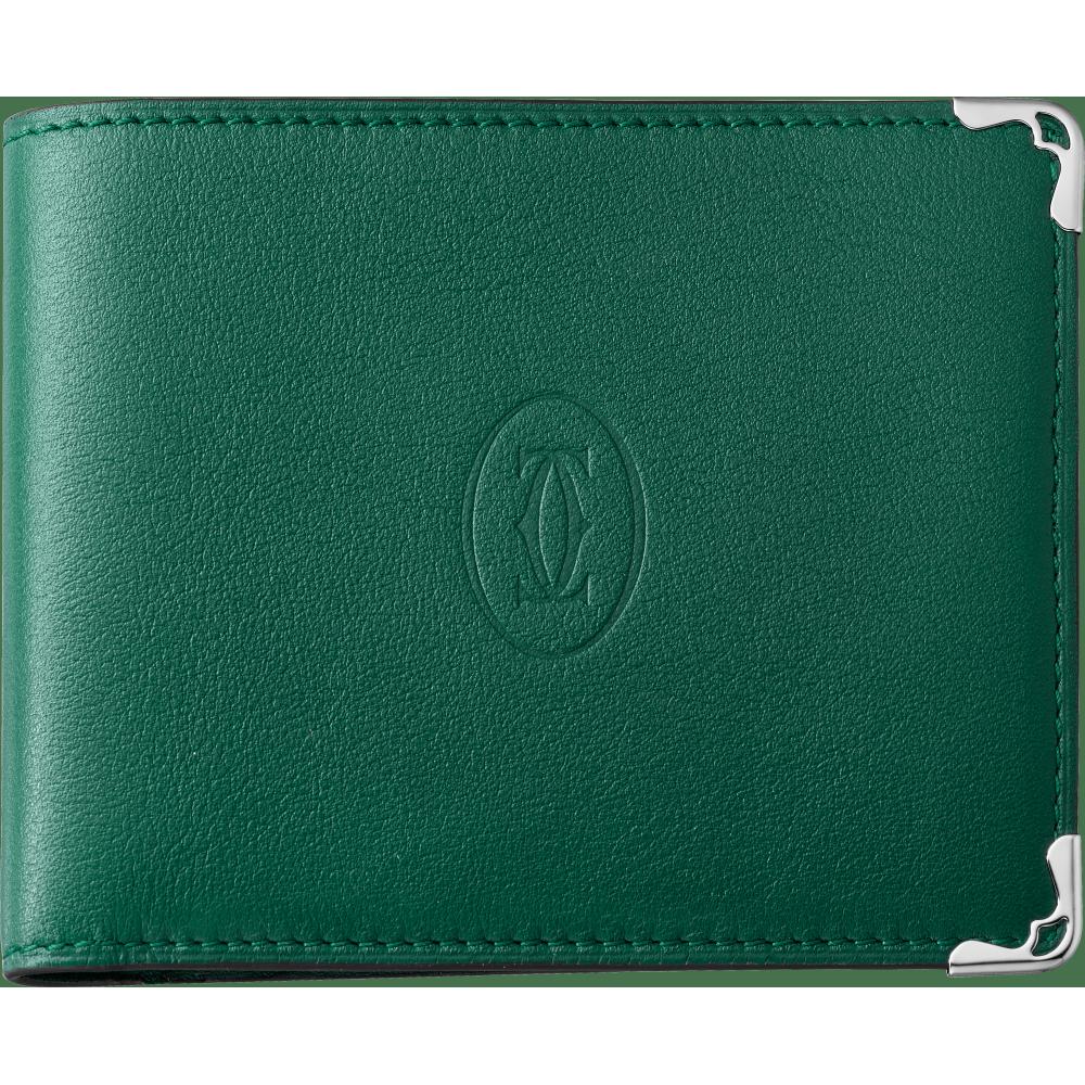 Must de Cartier 8信用卡皮夹 绿色 小牛皮