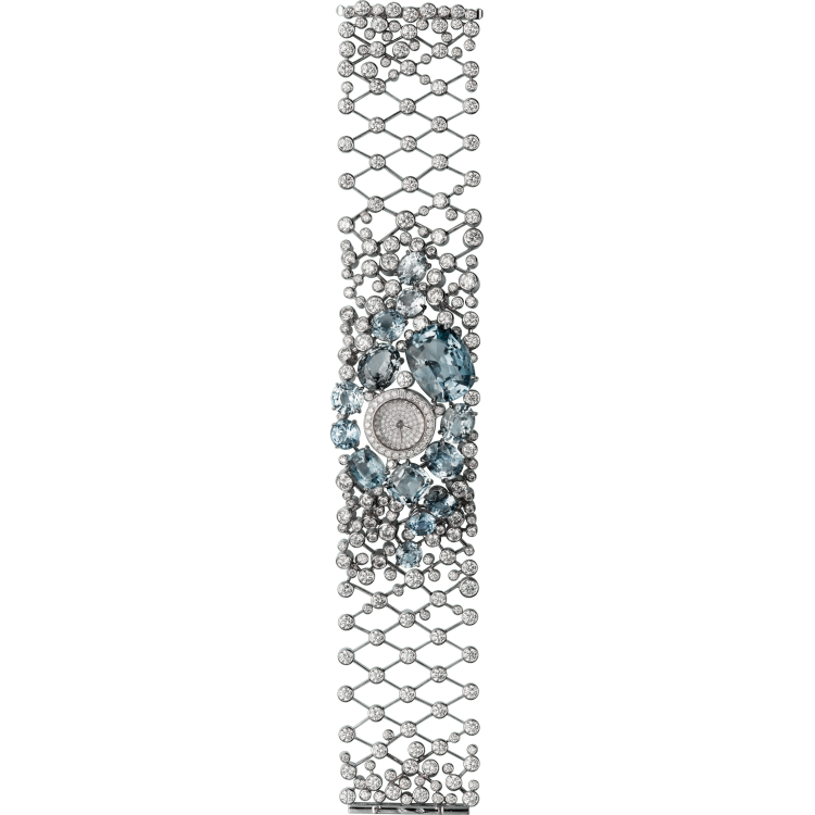 高级珠宝腕表  18K白金与木料
