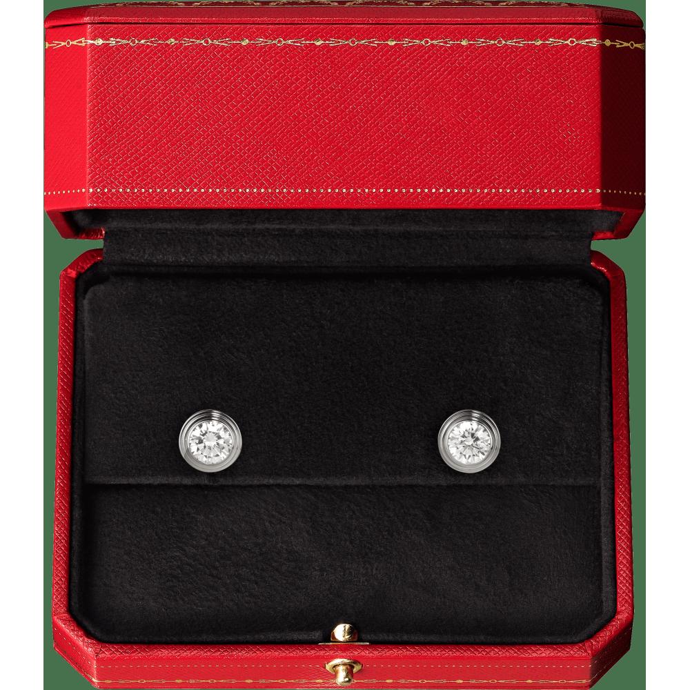 Diamants Légers 耳环,中号款 18K白金