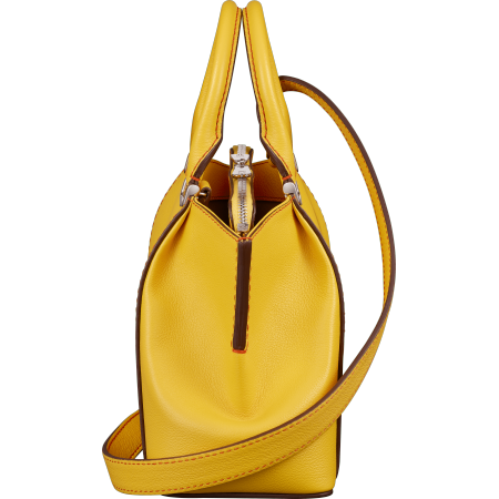 C de Cartier迷你手袋 黄色 Taurillon皮革