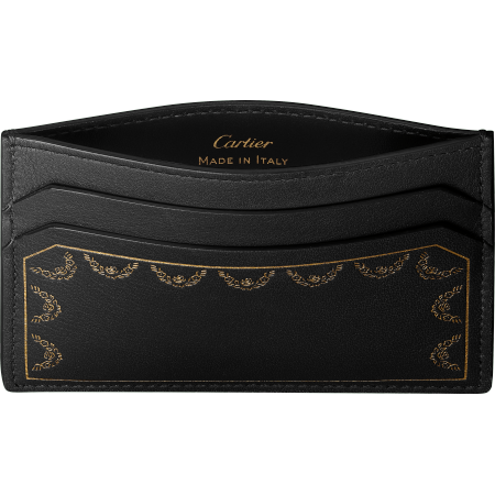 Guirlande de Cartier单卡片夹 黑色 小牛皮