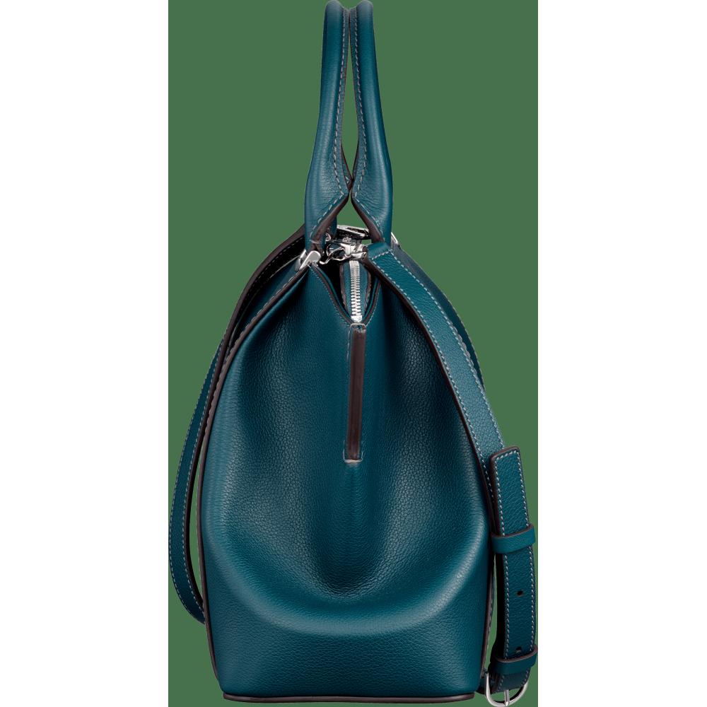 C de Cartier小号手袋 绿色 Taurillon皮革