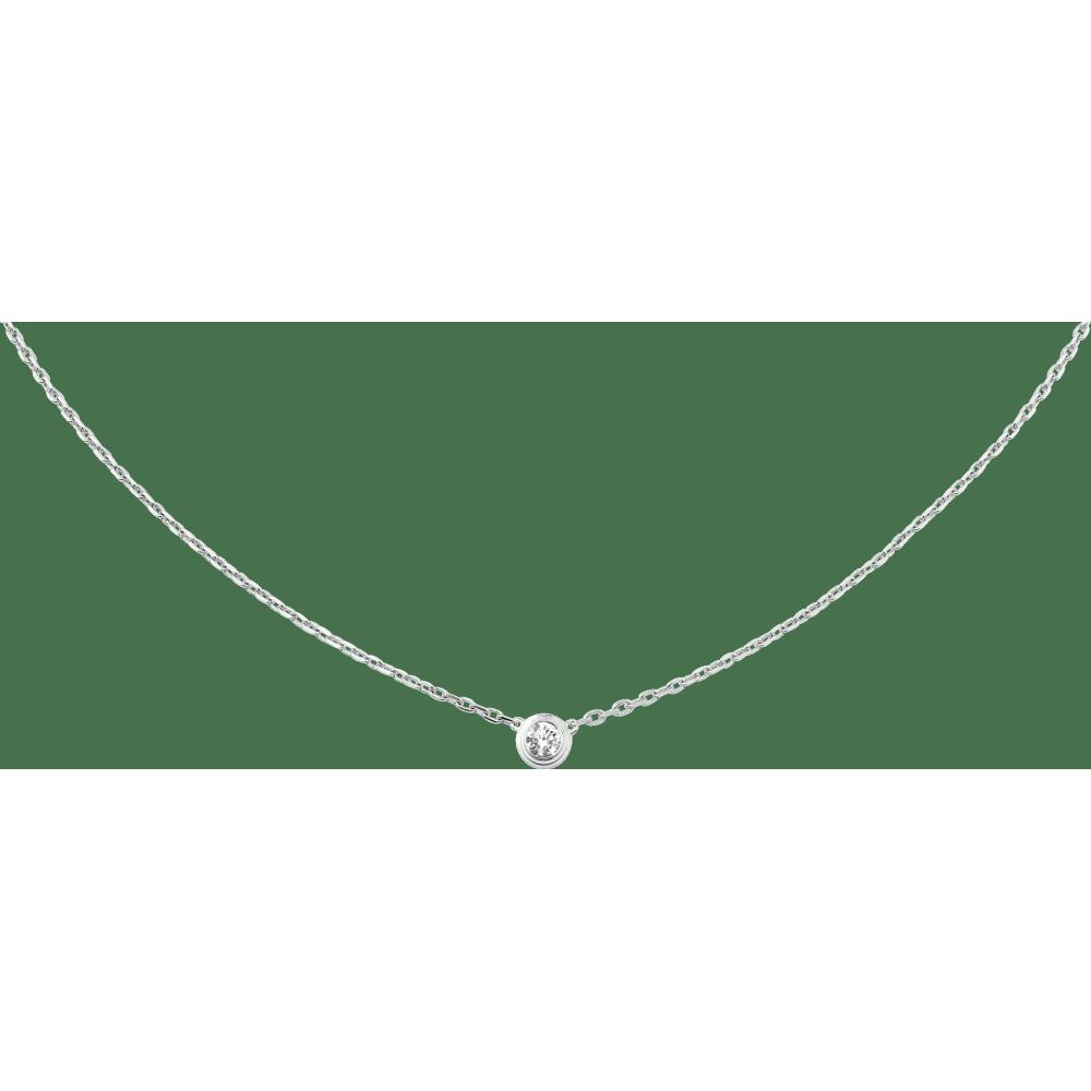 Diamants Légers 项链,大号款 18K白金