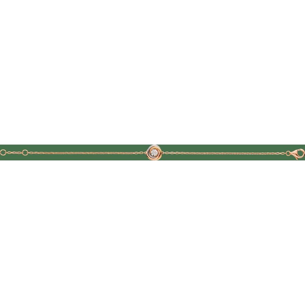 Trinity手镯 18K白金,18K黄金,18K玫瑰金