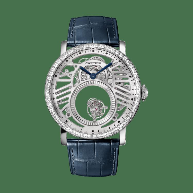 高级制表镶嵌宝石腕表 45毫米 铂金 手动上链