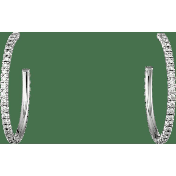 Etincelle de Cartier耳环,中号款 18K白金