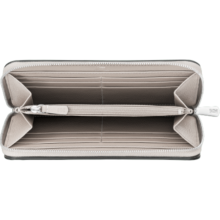 C de Cartier系列小皮具,拉链式通用型皮夹 灰色 Taurillon皮革