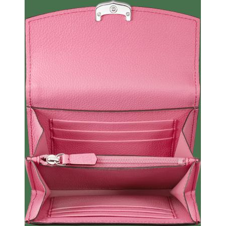 C de Cartier系列小皮具,短夹 粉色 Taurillon皮革