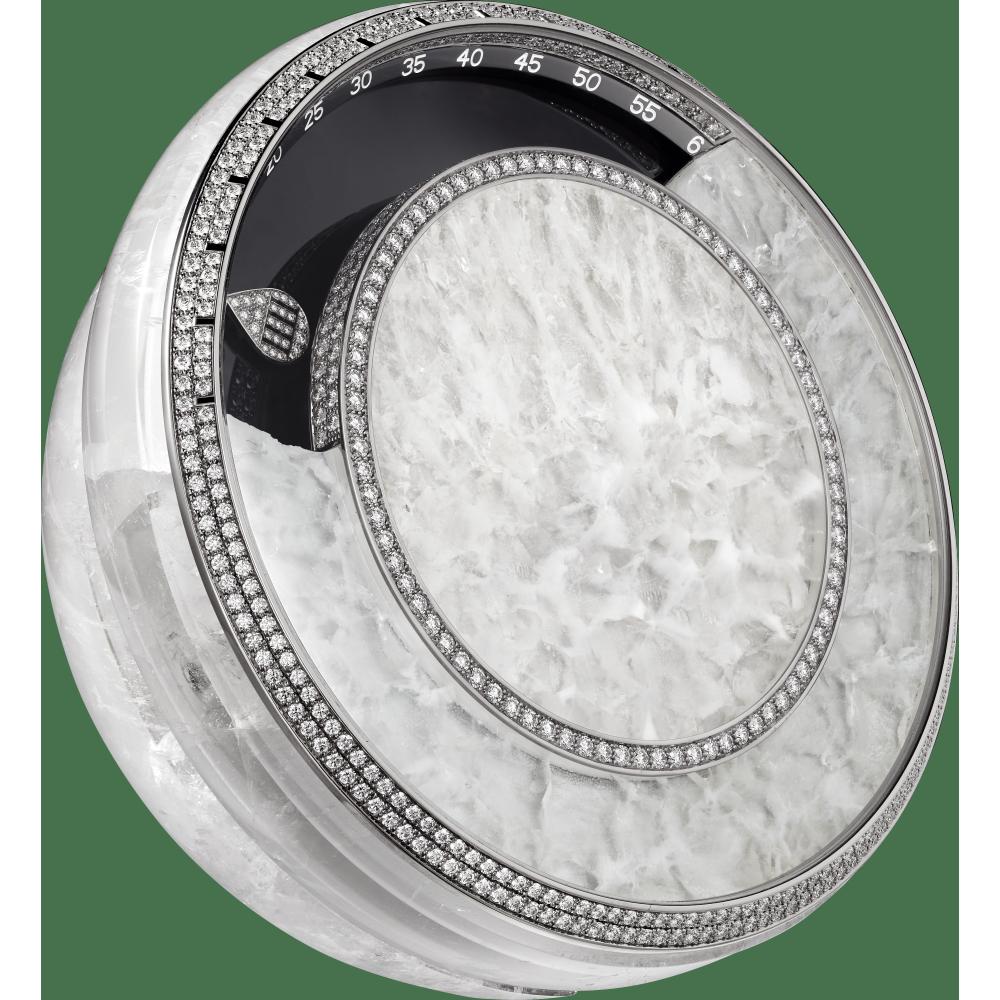 高级珠宝座钟 18K白金