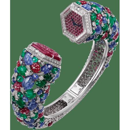 """高级珠宝Tutti Frutti Toi & Moi水果锦囊风格装饰""""你与我""""腕表  18K白金"""