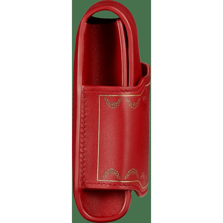 Guirlande de Cartier长款手拿包 红色 小牛皮