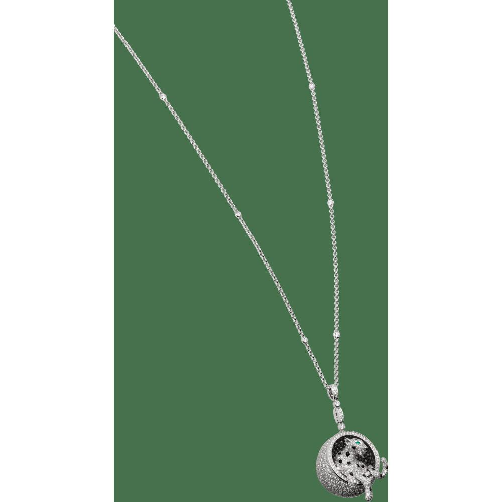 Panthère de Cartier卡地亚猎豹项链 18K白金