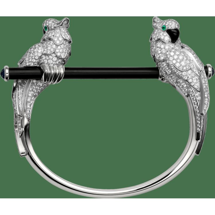 Les Oiseaux Libérés手镯 18K白金,精密陶瓷