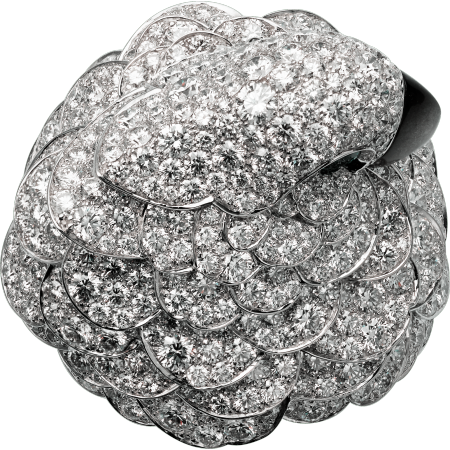 高级珠宝腕表  18K白金