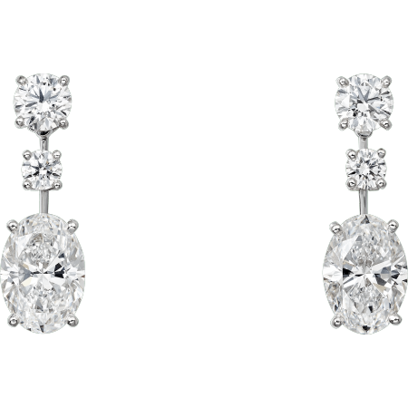 高级珠宝耳环 铂金