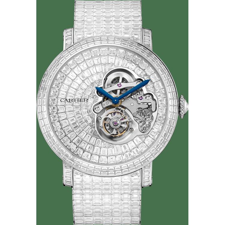 Rotonde de Cartier反转陀飞轮腕表 47毫米 铂金 手动上链