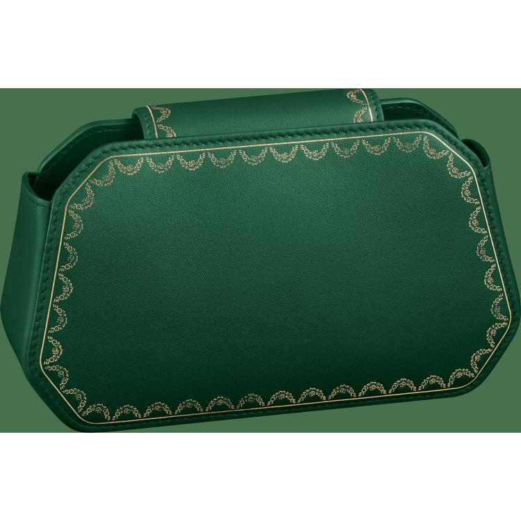 Guirlande de Cartier Nano手袋 绿色 小牛皮