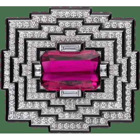 高级珠宝胸针 18K白金