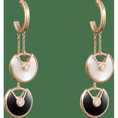 Amulette de Cartier耳环,超小号款 18K玫瑰金