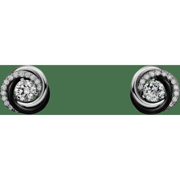 Trinity耳环 18K白金