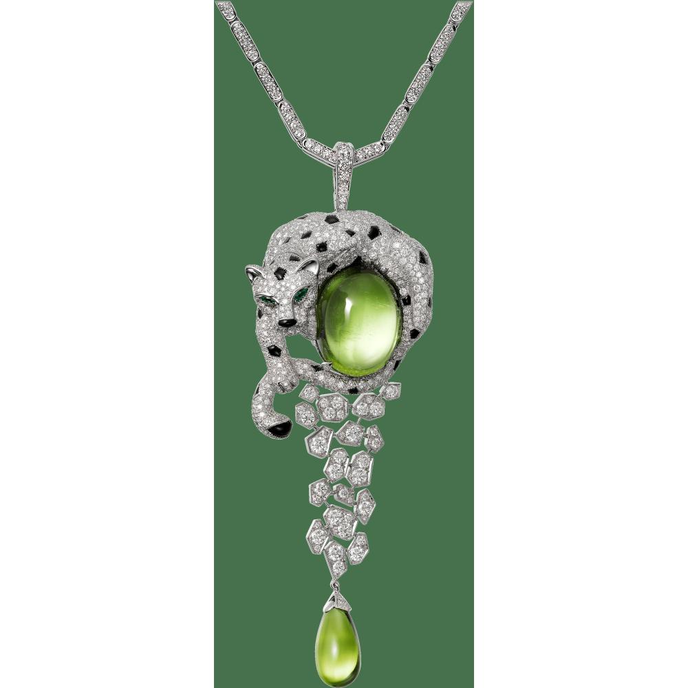 Panthère de Cartier高级珠宝项链 18K白金